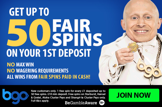 BGO Casino banner image