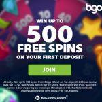 BGO casino 500 free spins