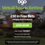 BGO Virtual sports £50 free bet