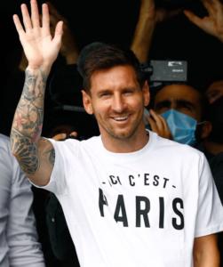 Messi arrived In Paris